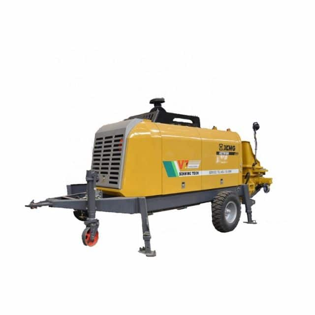 XCMG Schwing concrete machinery 118kw HBT6013k mobile trailer mounted concrete pump for sale