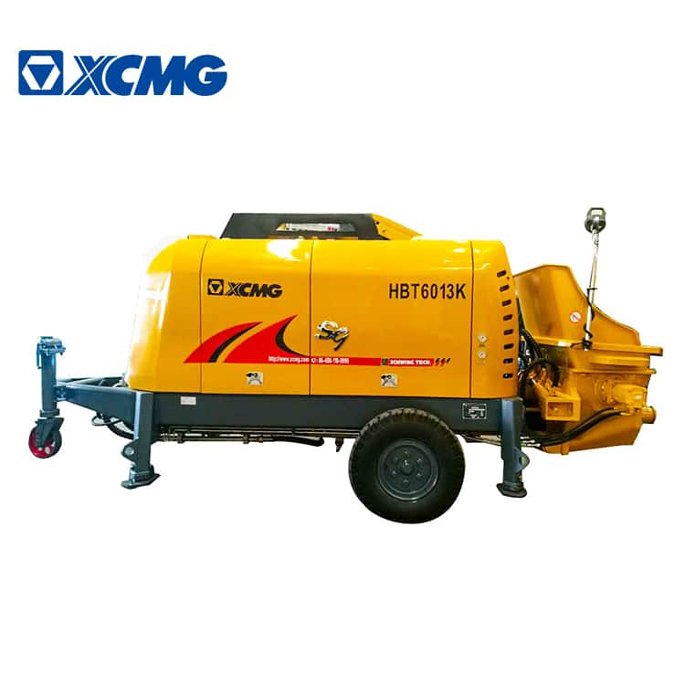XCMG Official trailer mounted concrete pump truck HBT6013K small lightweight concrete mixer price