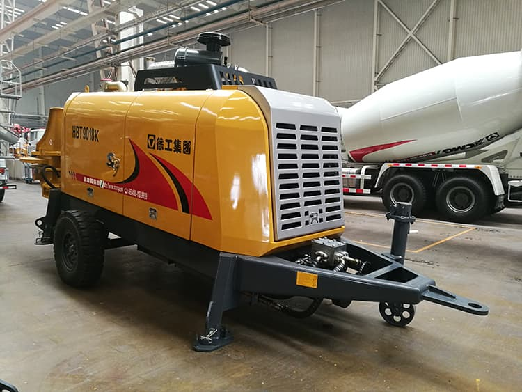 XCMG trailer mounted concrete pump truck HBT9018K china mobile concrete mixer with pump price