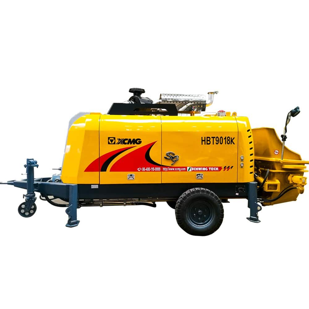 XCMG Official HBT9018K Trailer-Mounted Concrete Pump for sale