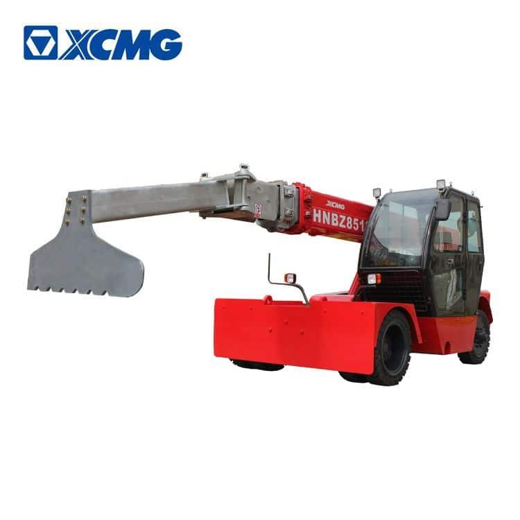 Telescopic single boom furnace tend vehicle HNBZ8512 for aluminum smelters furnace rake slag cinder