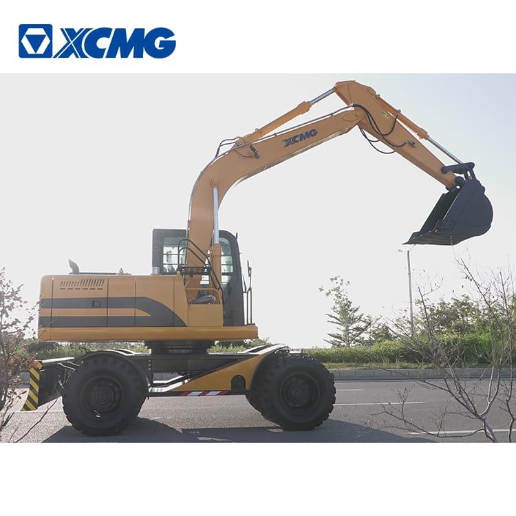 XCMG 12 ton wheel excavator HNE120W with Cummins engine for sale