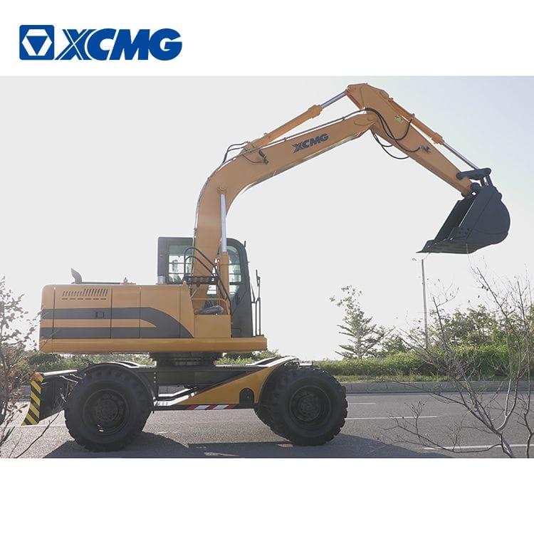 XCMG 12 ton wheel excavator HNE120W with Cummins engine for sale