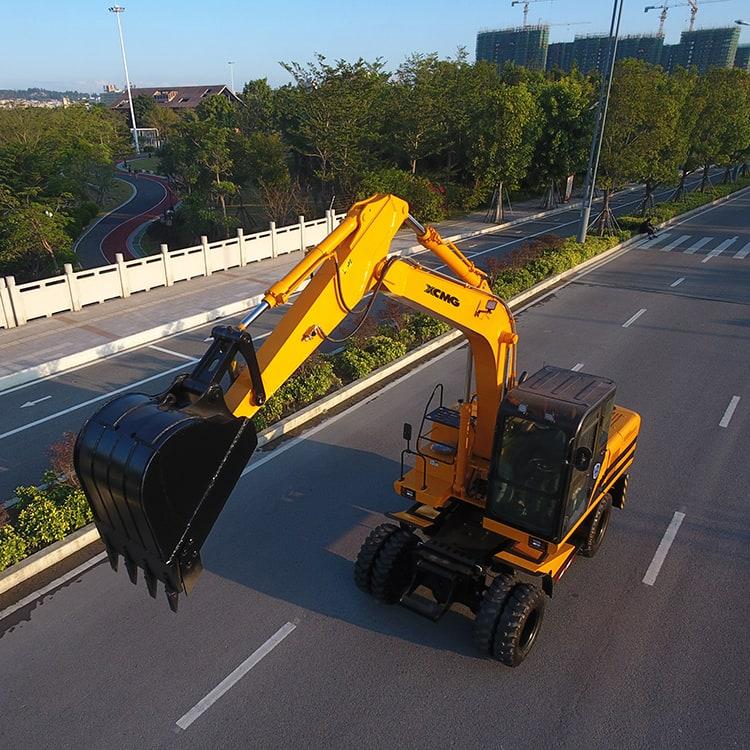 XCMG wheel excavator XGE150W China new 15 ton excavator with spreader and Cummins engine price