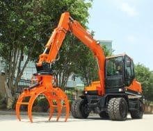 XCMG 9 ton wheel excavator HNE90W with spreader price