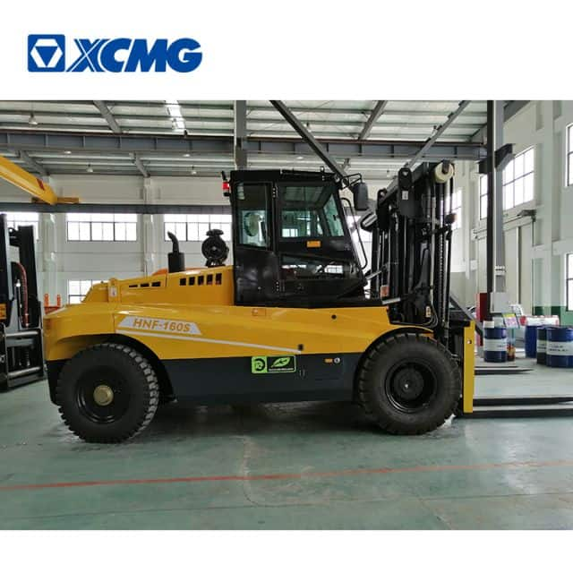 XCMG China new heavy duty forklift small 16 ton counterweight diesel forklift HNF-160S