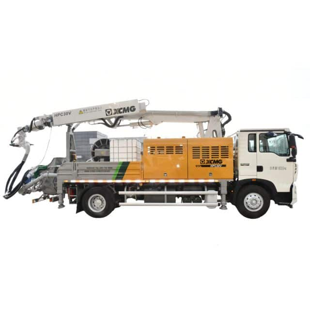 XCMG Official HPC30V Truck-mounted concrete spraying machine for sale