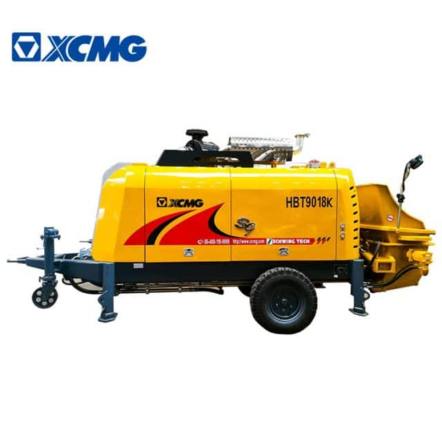 XCMG Official HBT9018K 186Kw trailer concrete pump price concrete pump machine for sale