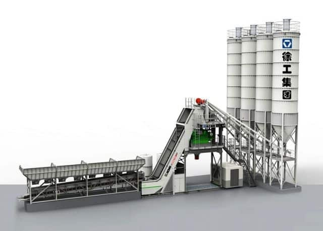 XCMG High Quality Concrete Batching Plant HZS90VG 90m3 Batching Concrete Plant For Sale