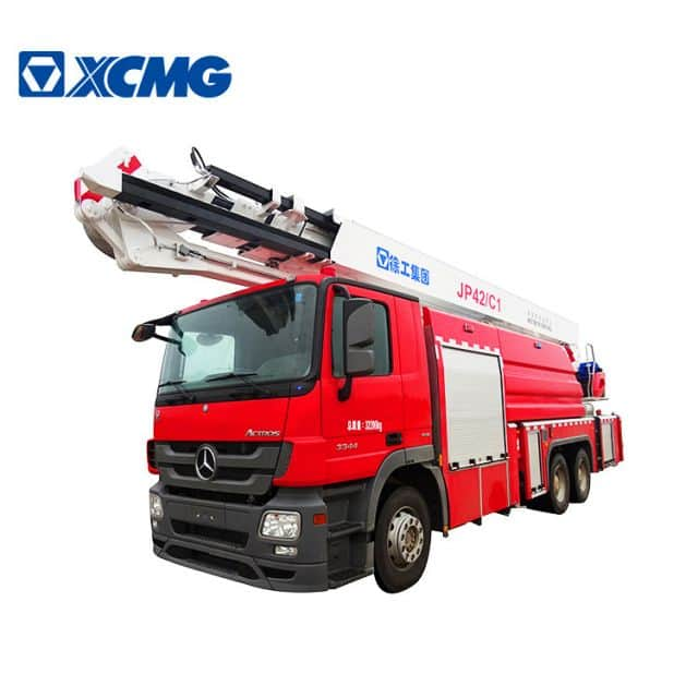 XCMG official 42m water and foam tower fire truck JP42C1 multi-functional fire fighter trucks price