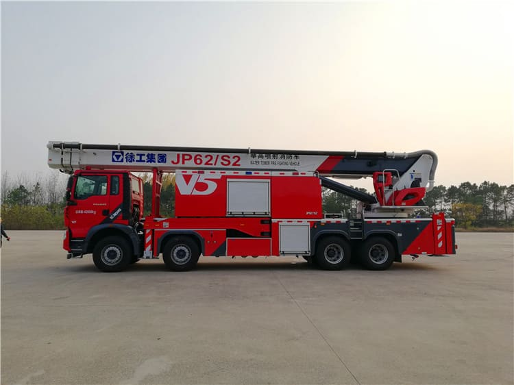 XCMG official 62m telescopic boom water tower fire truck JP62S2 hydraulic ladder fire fighter trucks