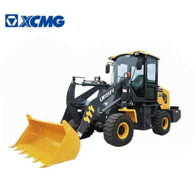 XCMG Official Small Front Loader 1 ton Chinese mini articulated wheel loader LW156FV for sale