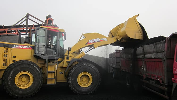 XCMG Official 9 Ton Mining Front End Wheel Loader LW900KN China Big Loader Mine Bulk Loader for Sale
