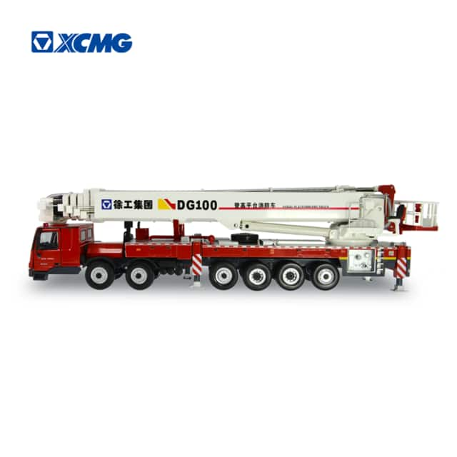 XCMG fire fighting truck DG100 aerial platform fire truck model toy for sale