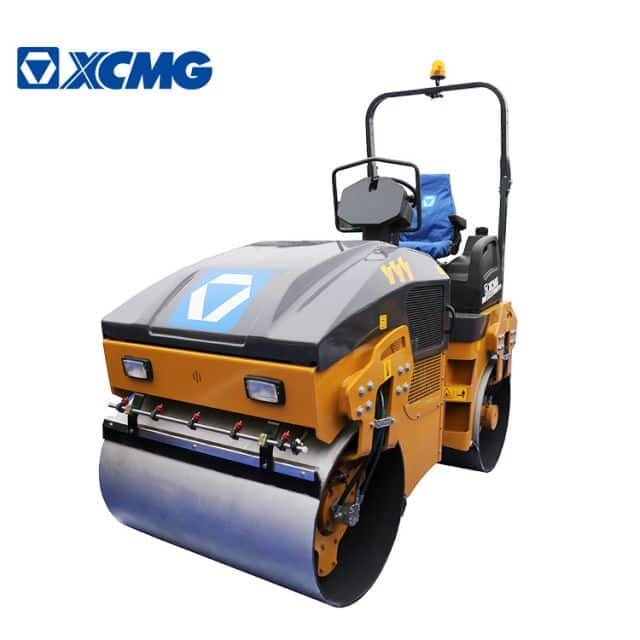 XCMG 4 ton Light double drum vibratory roller earth compactor machine XMR403 small road roller price