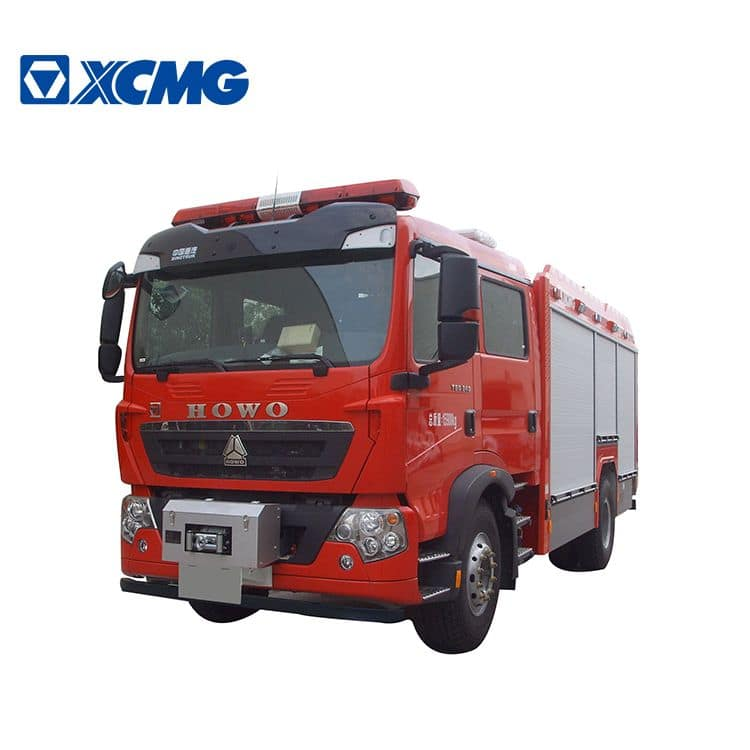 XCMG official 5 ton 4x2 foam fire truck PM50F2 with howo chassis price