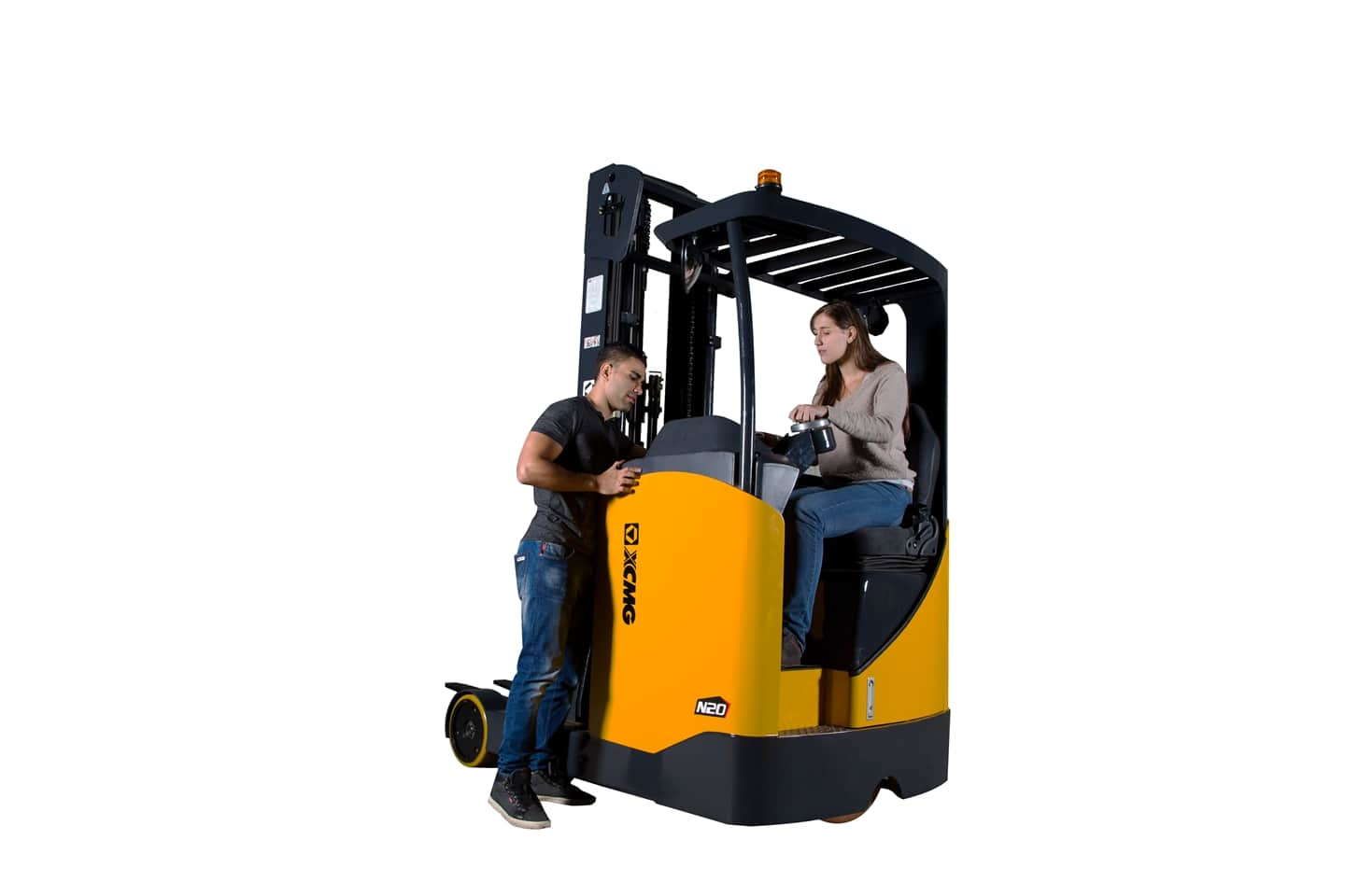 XCMG Official 1.6-2.0T Sit down electric reach truck for sale