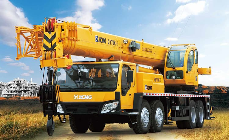 XCMG QY70K-I China 70t crane arm truck with hydraulic system