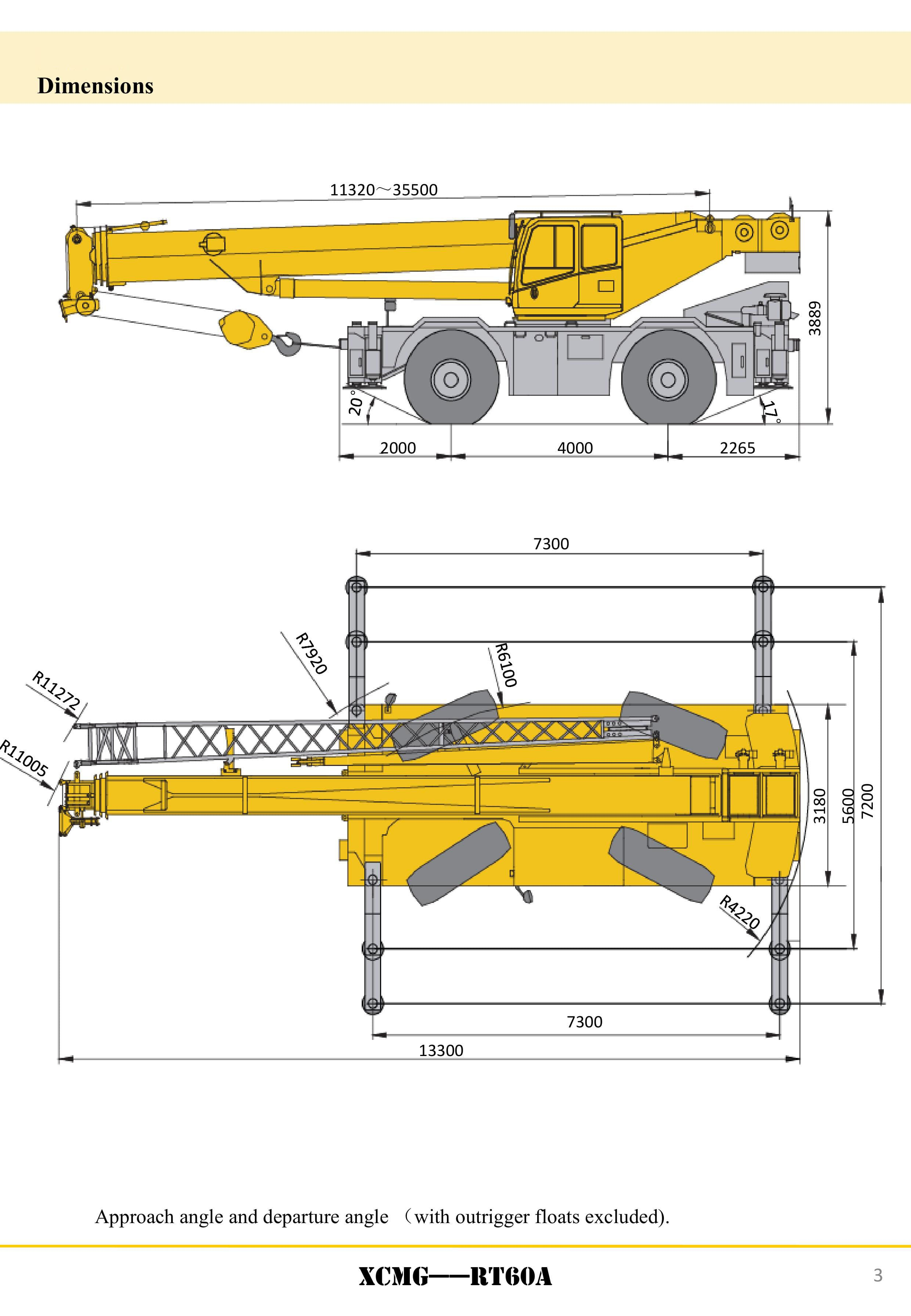 XCMG Official RT60A Rough Terrain Crane for sale