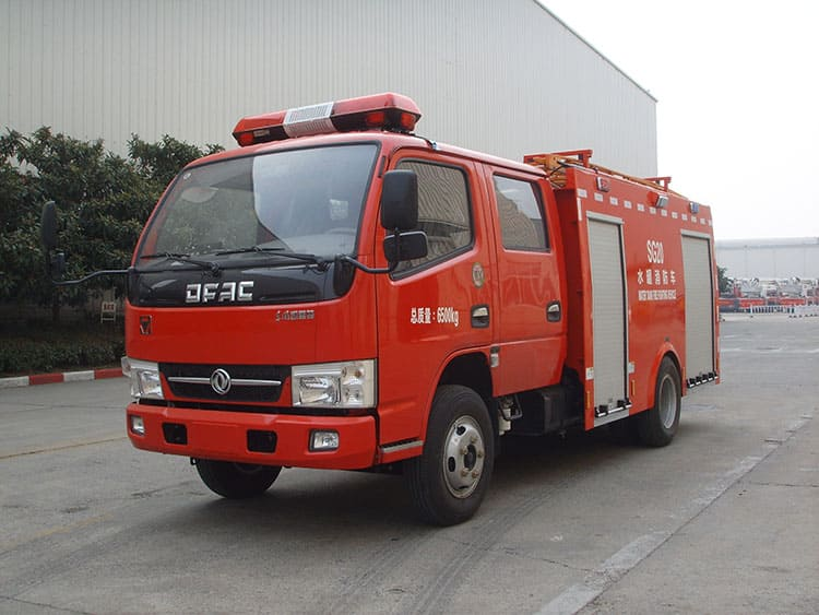XCMG Official 2ton 4x2 water tank fire truck SG20 china mini water tank fire fighting truck for sale