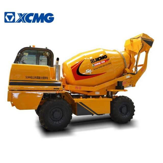 XCMG official 4 cubic concrete mixer SLM4 mini self loading concrete mixer truck price