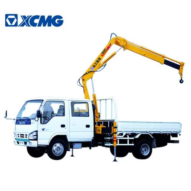 XCMG Official SQ1ZK2 1.5 ton mini knuckle boom crane truck mounted for sale