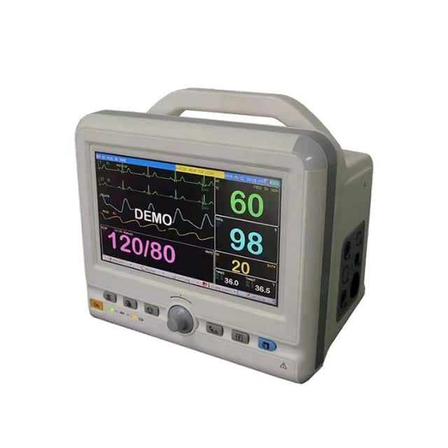Multi-parameters patient monitor TR-900J 7 Inch color LCD display heart rate monitor for hospital