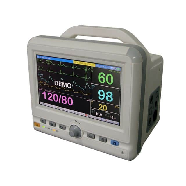 Multi-function patient monitor TR-600F 7 inch color LCD display SPO2/Pulse Rate/ ETCO2 monitor price
