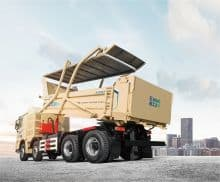 XCMG WJLN116 8*4 hydrogen fuel dump truck for construction