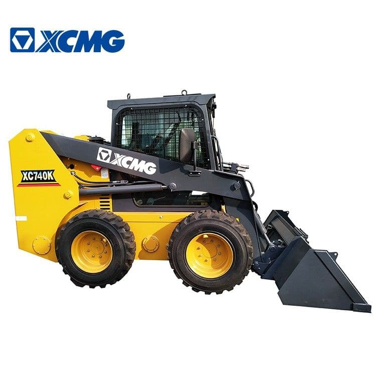 XCMG mini skidsteer loaders XC740K 1 ton China new skid steer loader