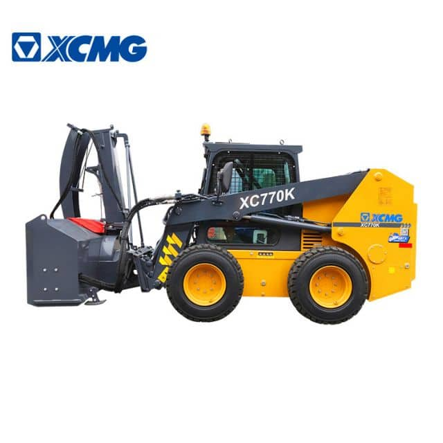 XCMG Official 1 ton mini skid steer loader XC770K Chinese skid steer loader attachment for sale