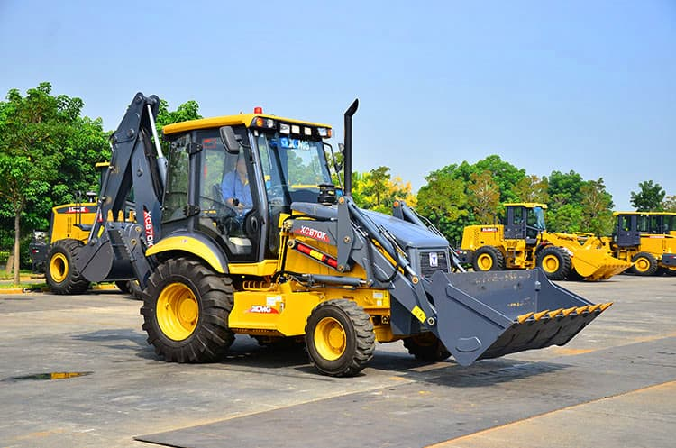 XCMG Official Mini Backhoe Loader XC870K 2.5 ton Chinese back hoe loaders for sale