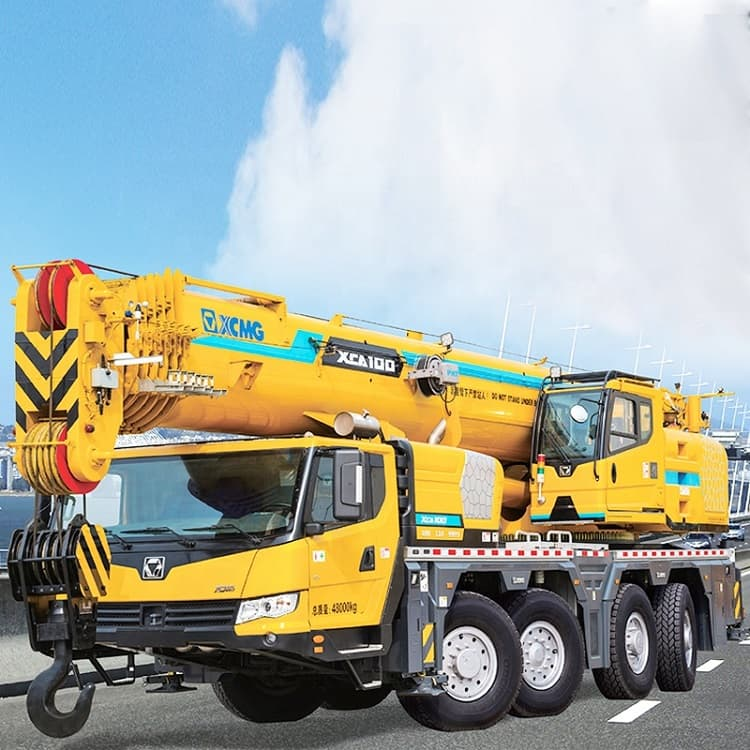 XCMG China All Terrain Crane 100 ton cranes XCA100 Mobile crane with CE price list