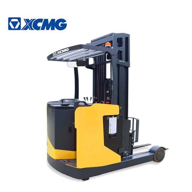 XCMG official 1.5 ton 2 ton 2.5 ton electric stacker China new stand-on reach stacker forklift price