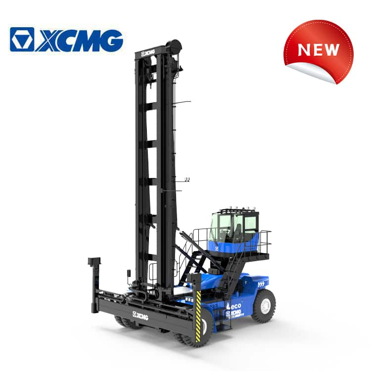 XCMG 9 ton empty container handler XCH907E pure electric container reach stacker crane