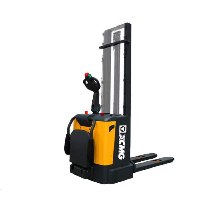 XCMG official 1.2 ton electric stacker China new XCS-P12 AC battery walking pallet stackers price