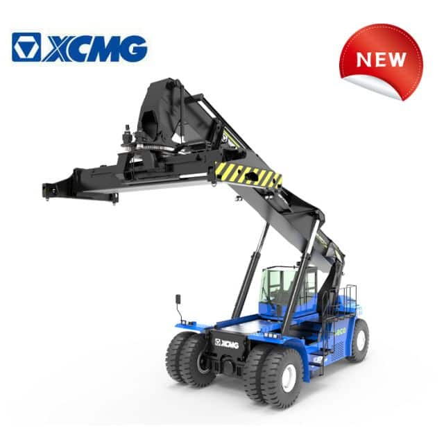XCMG 45 ton pure electric container reach stacker crane XCS4531E new energy mobile port machinery