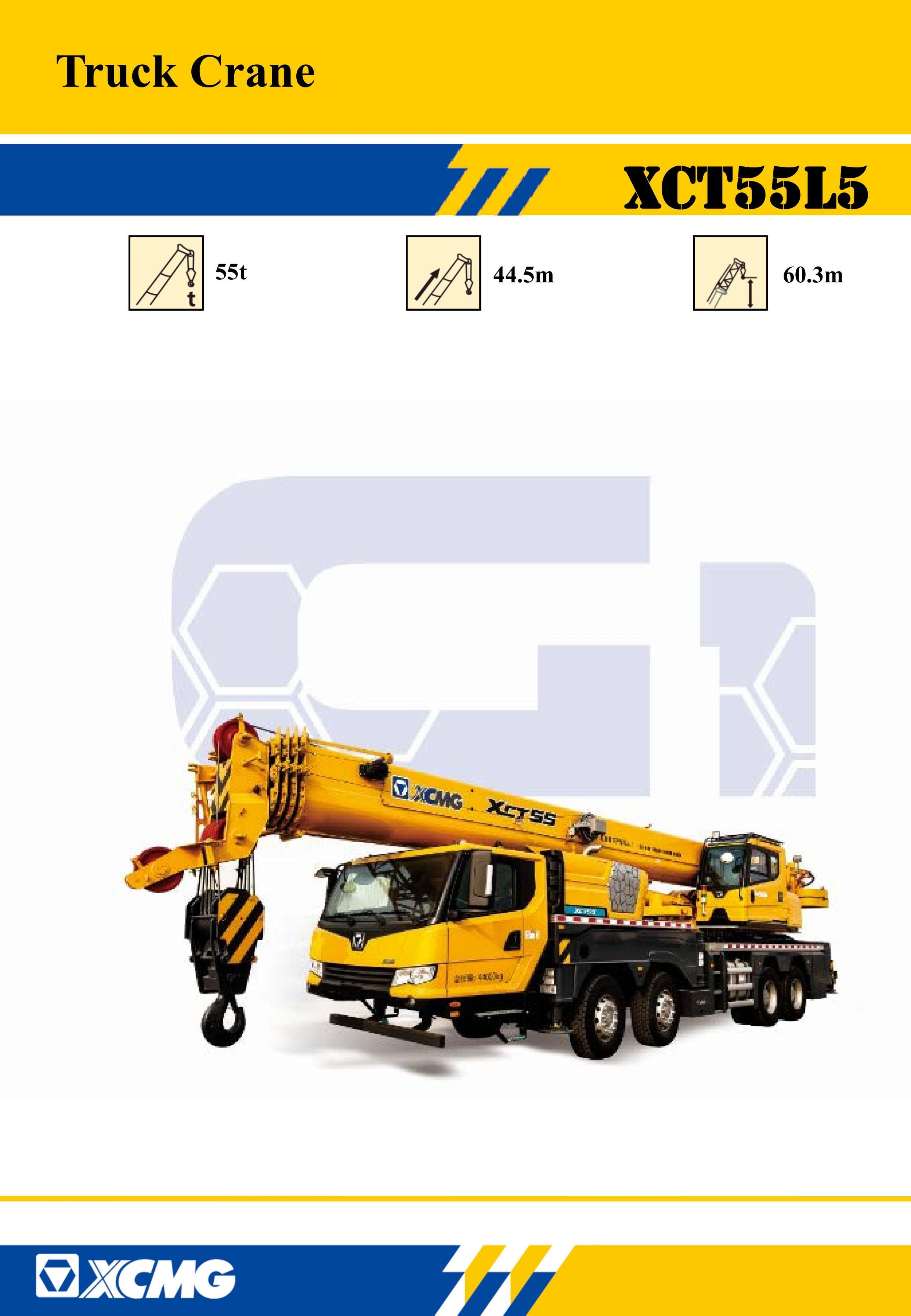 XCMG Official XCT55L5 Truck Crane for sale