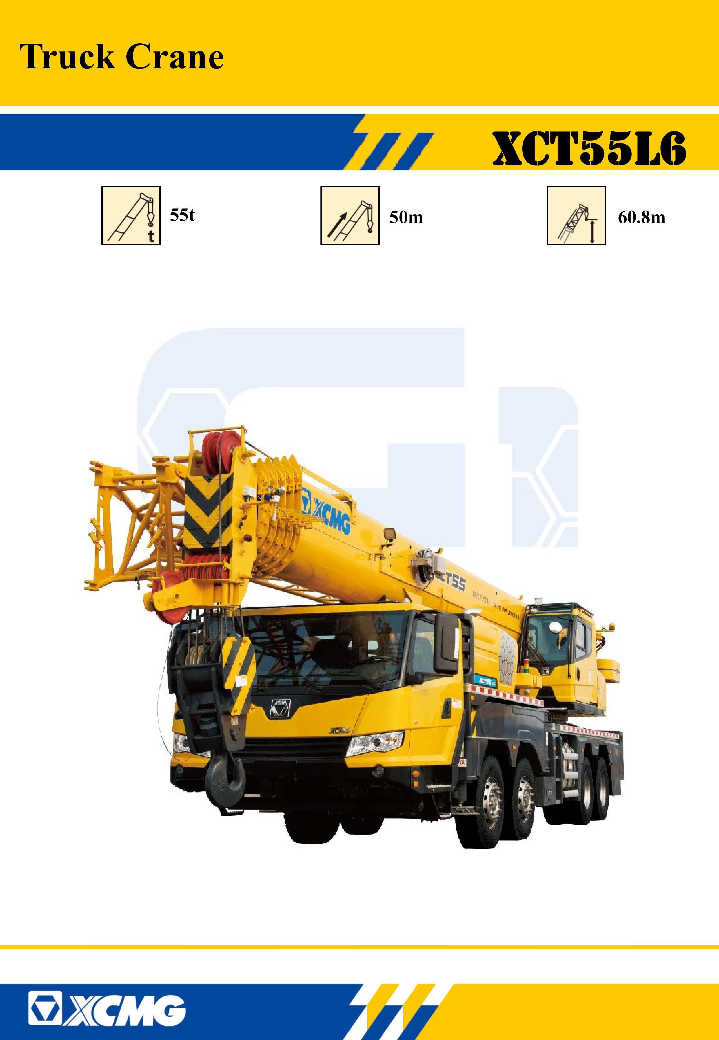 XCMG Oficial XCT55L6 Truck Crane for sale