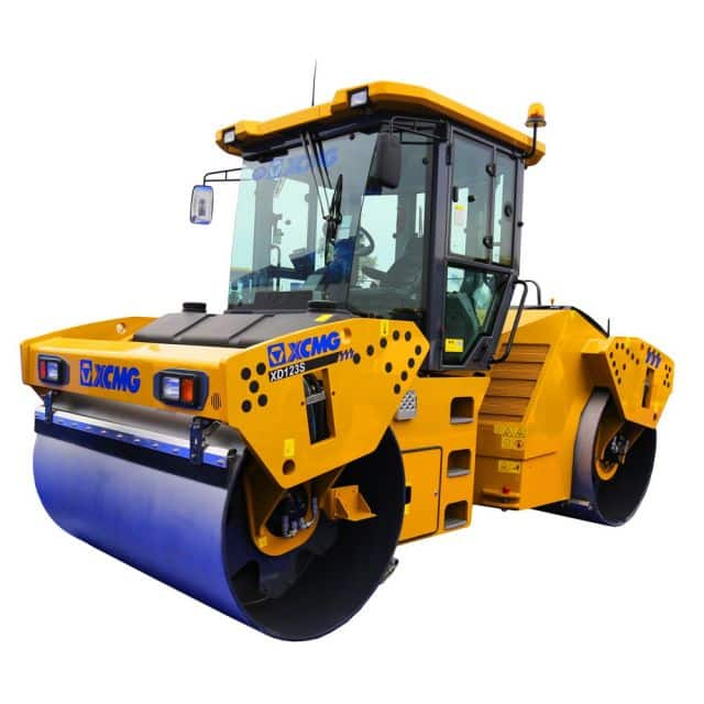 XCMG Official XD123 double drum vibratory road roller 12 ton compactor machine price