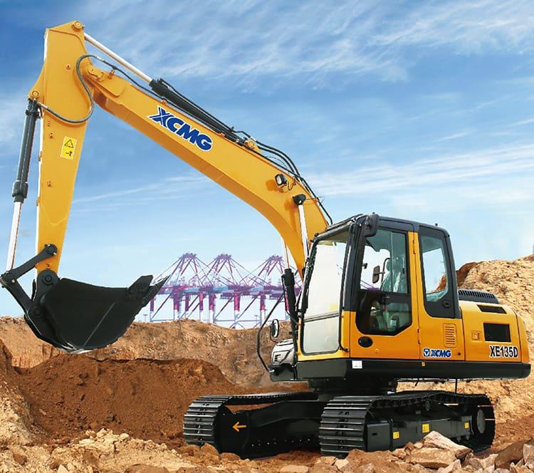 XCMG Officical XE135D 13 Ton Crawler Excavators With Cummins Engine
