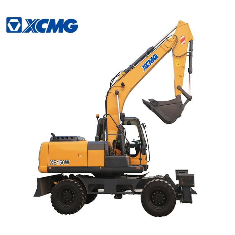 XCMG Official 15 ton new hydraulic wheeled excavator machine XE150WB price