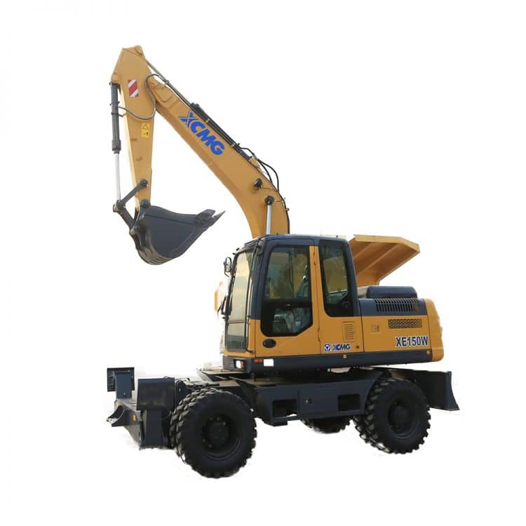 XCMG Official XE150W Semi-Autonomous Wheeled Excavator for sale