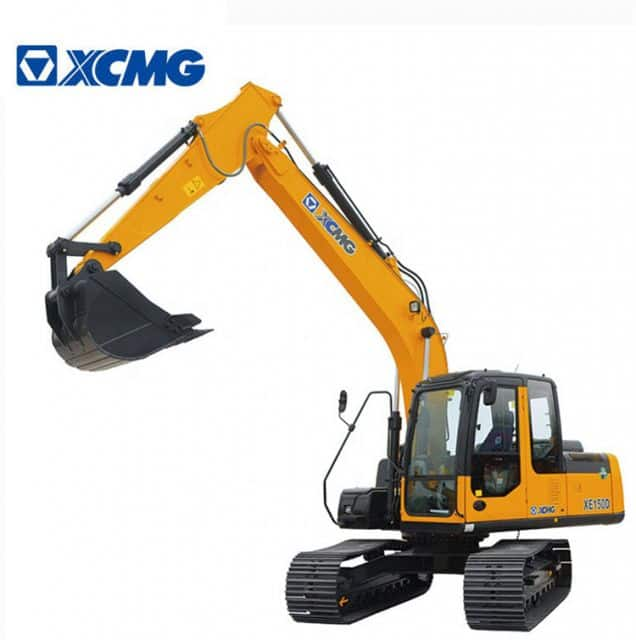 XCMG 15 Ton Excavators Machine XE155D With Excavator Hydraulic Hammer Attachments Price