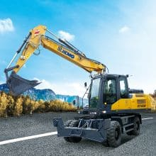 XCMG Official 16ton Hydraulic Excavator XE160W (Euro Stage Ⅳ) for sale