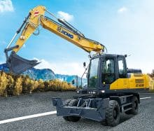 XCMG Factory Price New 15 Ton Hydraulic Wheel Excavator Machine XE160W With Euro Stage IV For Sale
