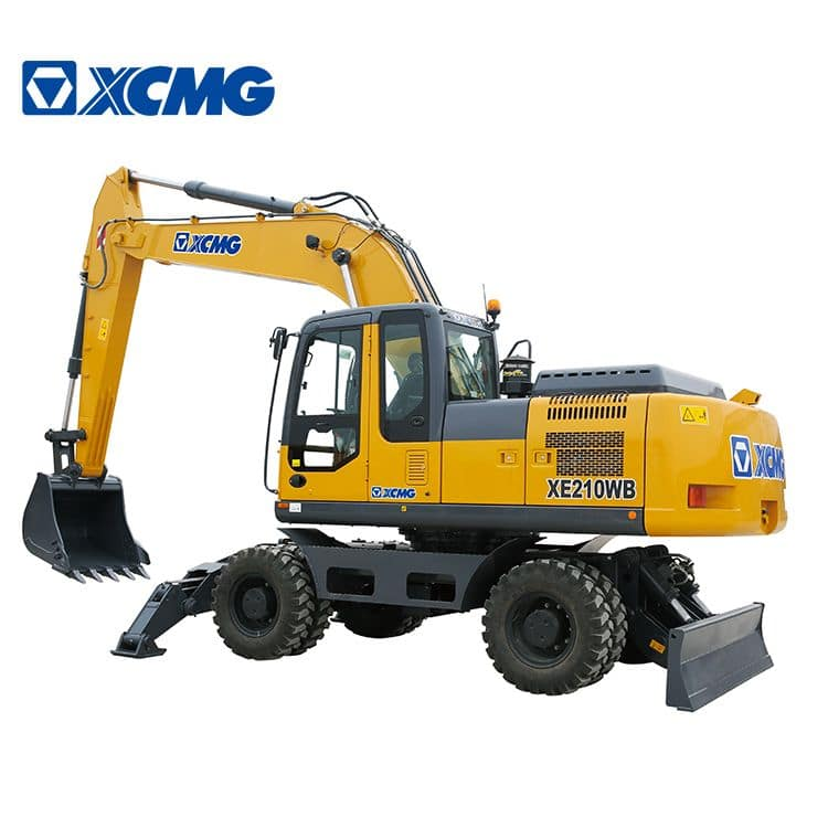 XCMG official 20 ton 0.9 Cbm excavator XE210WB China hydraulic wheel excavator machine for sale
