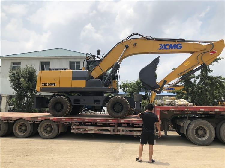 XCMG Wheel Excavator Hydraulic Excavators 21 ton Chinese Excavator Digger XE210WB Price