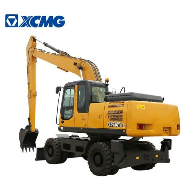 XCMG Excavator Long Reach 20 ton New Wheel Excavators Machine XE210WLL price