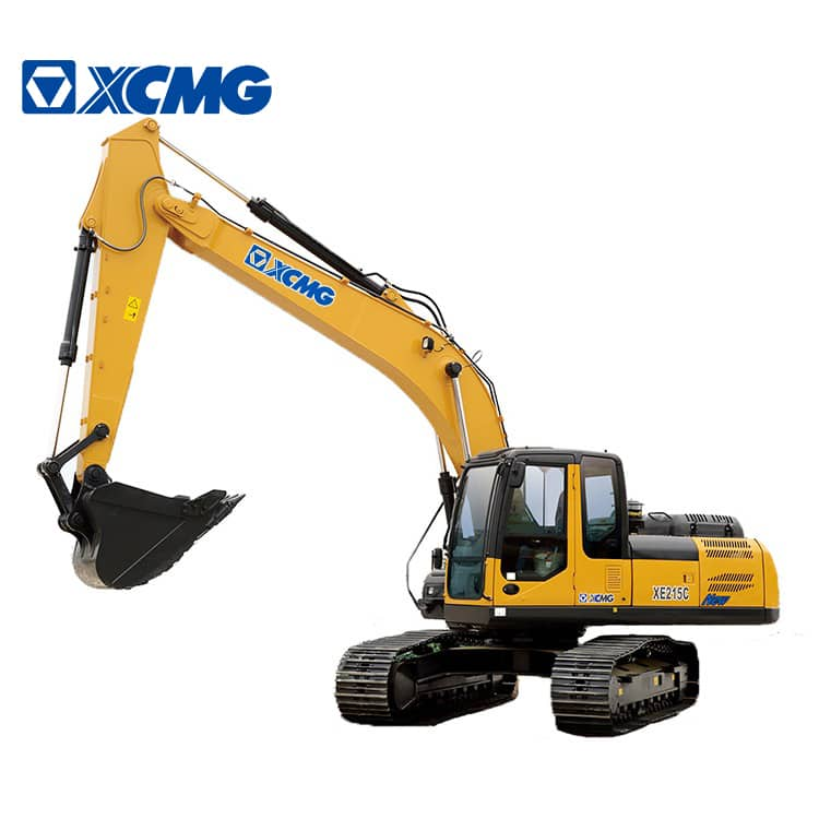 XCMG Official 21ton crawler excavator machine XE215C for earth and stone construction